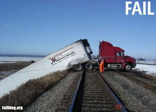 what was the driver thinking, he should never have been in a truck