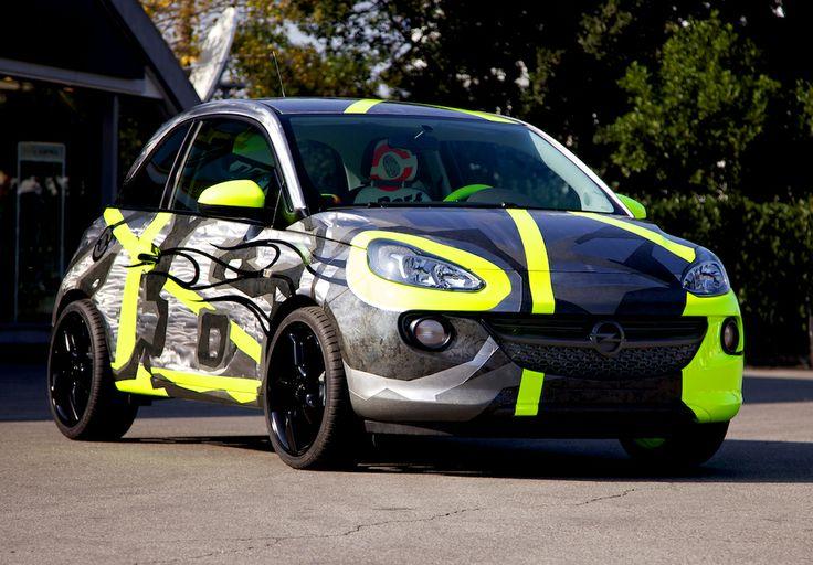 Opel ADAM: a piece of art designed by Moto GP champion Valentino Rossi & designer Aldo Drudi for charity.