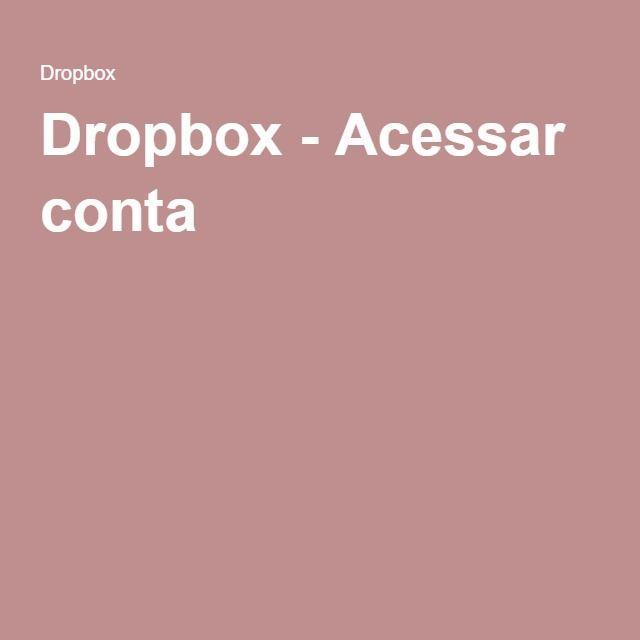 Dropbox - Acessar conta