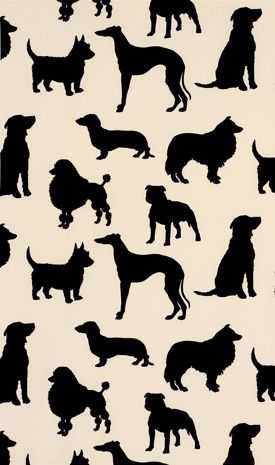 Dog Room - Wallpaper by Osborne & Little (Would be cute in picture frames)