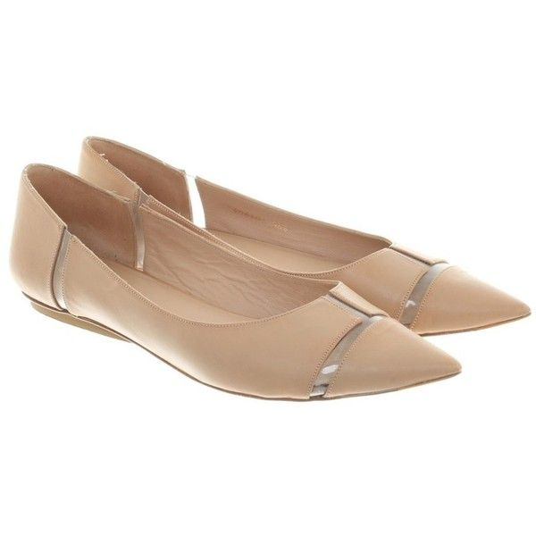 Pre-owned Ballerinas in Nude (255 BRL) ❤ liked on Polyvore featuring shoes, flats, nude, nude ballet shoes, nude footwear, nude ballerina shoes, pura lopez shoes and ballerina flats