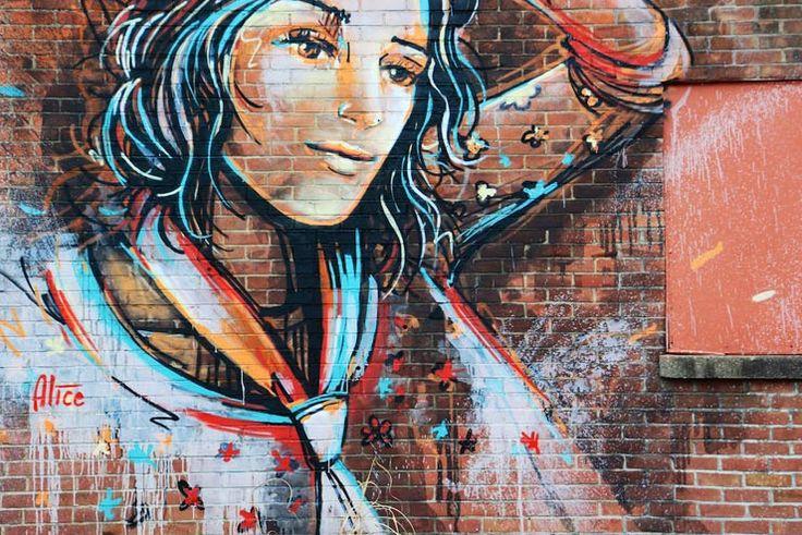 alice pasquini street art   Alice Pasquini in Ithaca, NY - Brooklyn Street Art