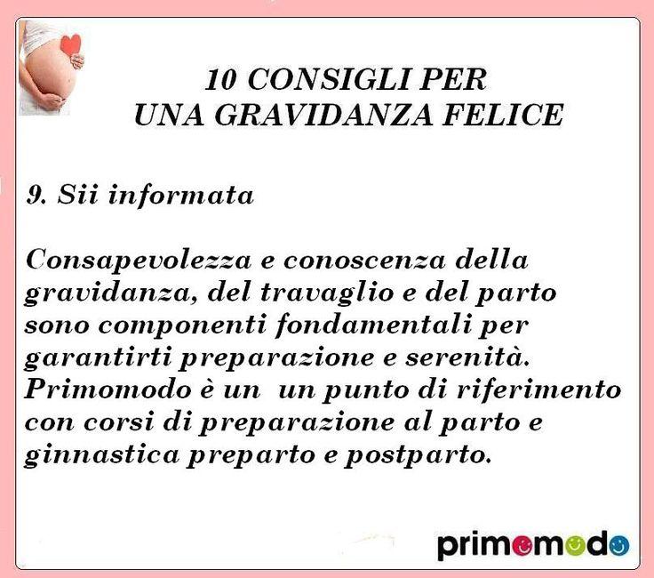 10 consigli per una gravidanza felice. consiglio numero 9 - Sii informata. http://www.primomodo.com/10-consigli-per-una-gravidanza-felice.html