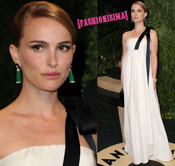 Natalie Portman en la fiesta de Vanity Fair Oscar 2013