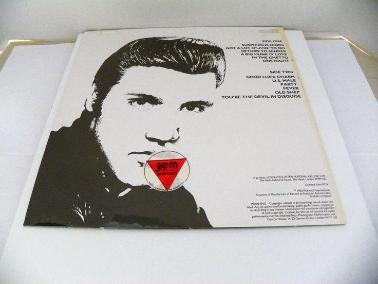 "NEW ELVIS 33 12"" VINYL SUSPICIOUS MINDS IMPORT PICKWICK INT ENGLAND 1982 CDS1206 #RocknRoll"