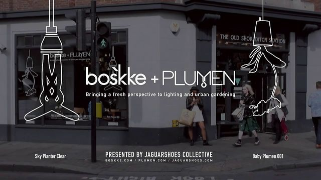 Short video showcasing Boskke + Plumens exhibit at 'The Old Shoreditch Station', during the video i talk to Boskke about how his revolutionary Sky planter came about and what he see's in the future for gardening and his product.