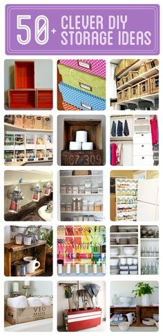 50  Clever DIY Storage & Organization Ideas  Click to see them all!