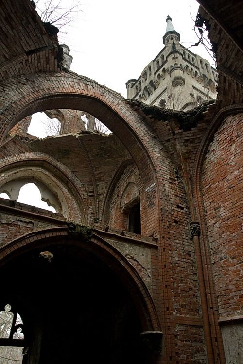 Poland, Kopice, To undoubtedly the biggest attractions of the village of Kopice include the ruins of the Palace. Must have been terribly grand in its time.