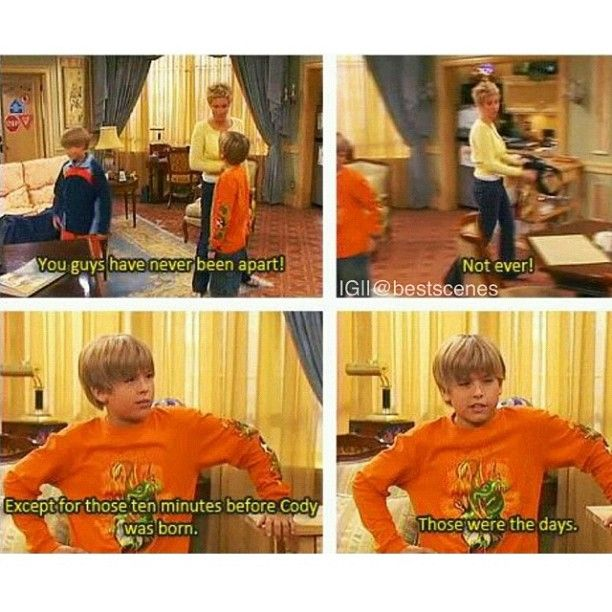 Suite Life of Zack and Cody. oh just cried... after realizing i was like 12 when i was sitting on the couch on a saturday night waiting for this episode to come on. :'(