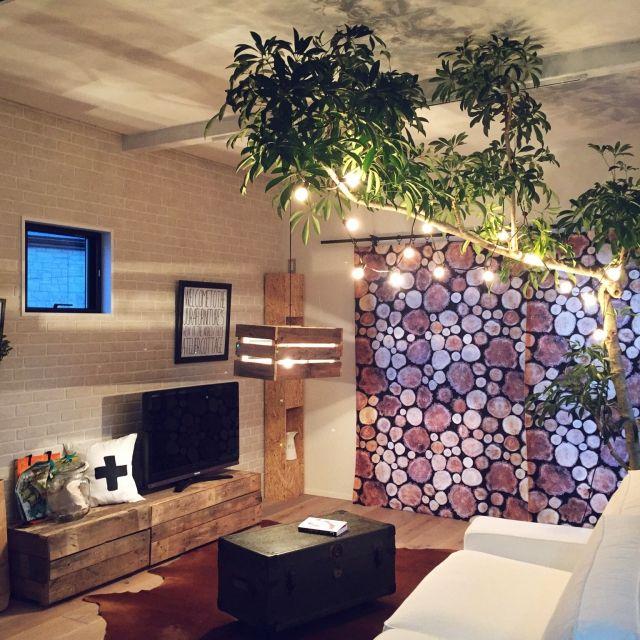 rieさんの、照明,green,観葉植物,IKEA,海外インテリアに憧れる,インスタ→hm_rie,植物,Lounge,のお部屋写真