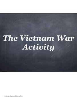98 best vietnam war lesson plans images on pinterest lesson students complete 10 tasks covering the vietnam war from the american point of view there fandeluxe Image collections