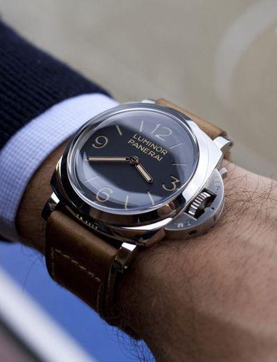 Panerai watch.  Magnifying and anti-glare