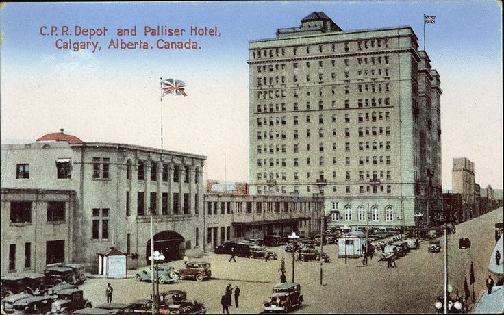 Postcard 5320: Coast Publishing Company, C.P.R. Depot and Palliser Hotel, Calgary, Alberta, Canada ([ca. 1948])