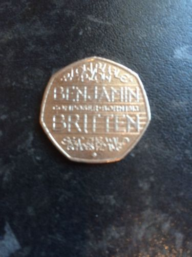 2013 benjamin britten 50p #pence coin very rare #100th anniversary #collectors it,  View more on the LINK: http://www.zeppy.io/product/gb/2/301887868030/