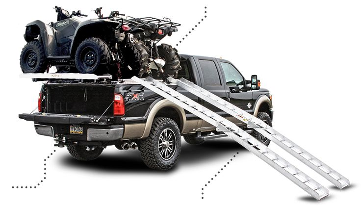 Side-Loading ATV Carrier Package on Ford Super Duty Truck