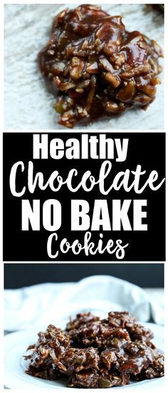 Yes healthy! These Chocolate No Bake Cookies are lower sugar and packed with nutrients. A healthy vegan and gluten free treat.