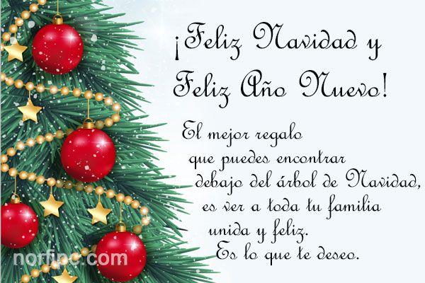 El mejor regalo que puedes encontrar debajo del árbol de Navidad, es ver a toda tu familia unida y feliz. Es lo que te deseo. ¡Feliz Navidad!