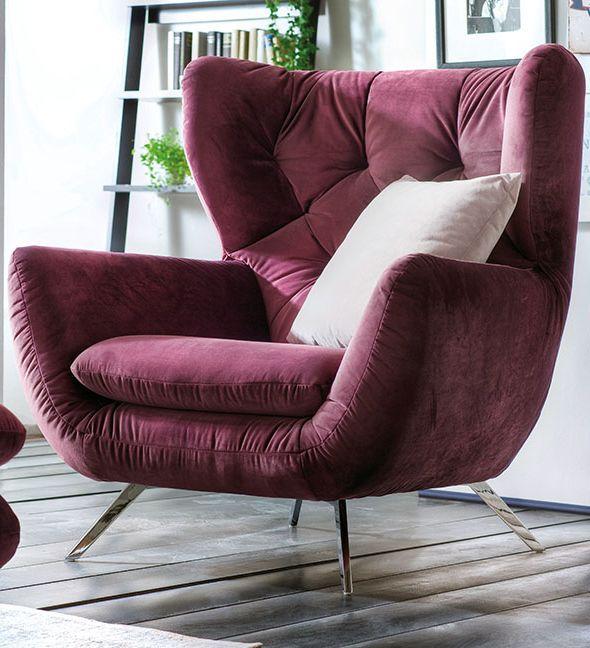 Moderne Polstermobel Exklusiver Sessel Im Retro Look