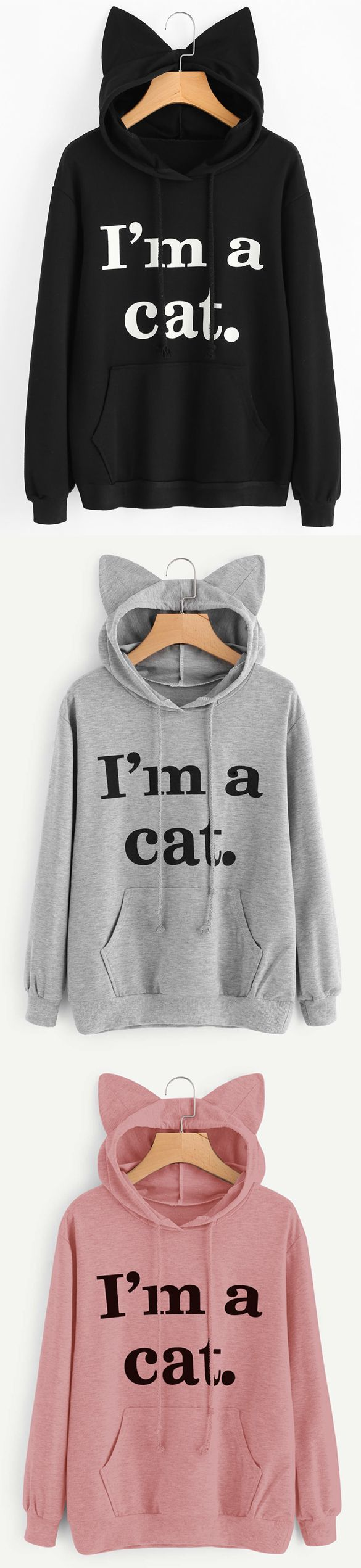 Up to 68% OFF! Front Pocket Letter Graphic Cat Hoodie. Zaful,zaful.com,zaful fashion,tops,womens tops,outerwear,sweatshirts,hoodies,hoodies outfit,hoodies for teens,sweatshirts outfit,long sleeve tops,sweatshirts for teens,winter outfits,fall outfits,tops,sweatshirts for women,women's hoodies,womens sweatshirts,cute sweatshirts,floral hoodie,crop hoodies,oversized sweatshirt, halloween costumes,halloween,halloween outfits,halloween tops,halloween costume ideas. @zaful Extra 10% OFF…