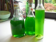 Liquore alla menta...verdissimo, estivo, fresco e digestivo!!