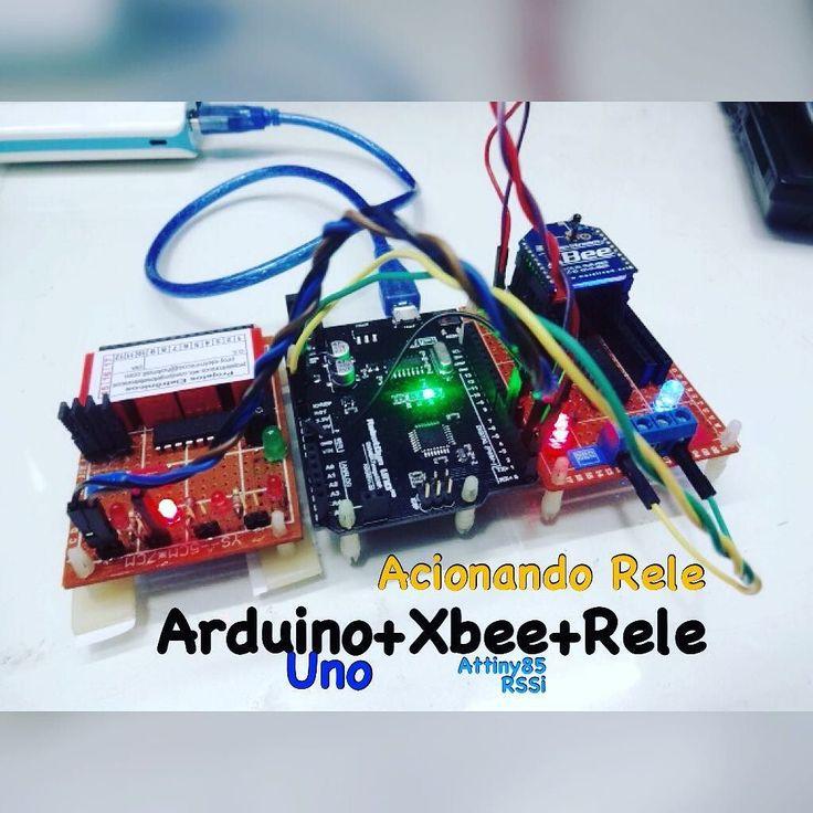 Módulo para desenvolvimento XBEE com Attiny85 e circuito RSSI acionado Rele sem fio #xbee #attiny85 #atmega #arduino #rele #raspberry #pic #maker #digi by wal_proj