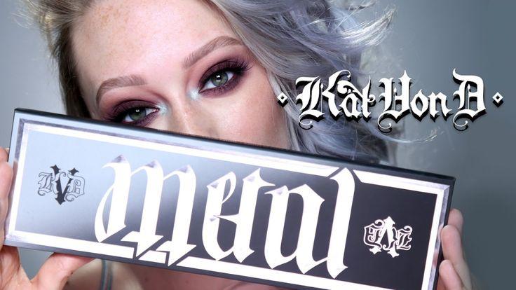 Kat Von D Metal Matte Palette Makeup Tutorial   First Impressions & Play...