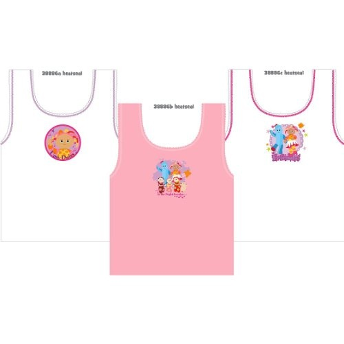 Childrens/Kids Girls In The Night Garden Underwear Sleeveless Vest 100\% Cotton (Pack of 3)