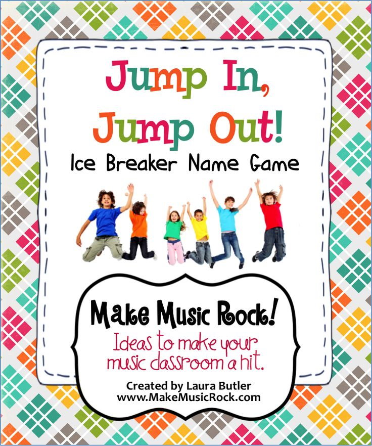 Make Music Rock! Jump In, Jump Out - Name game ice breaker that is a perfect back-to-school activity.