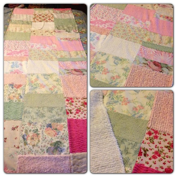 Vintage Fabric Patchwork Bed Runner by TheChenilleEmporium on Etsy, $50.00