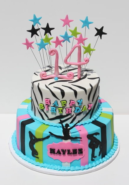 Little Gymnasts - by CakesbyKerrin @ CakesDecor.com - cake decorating website