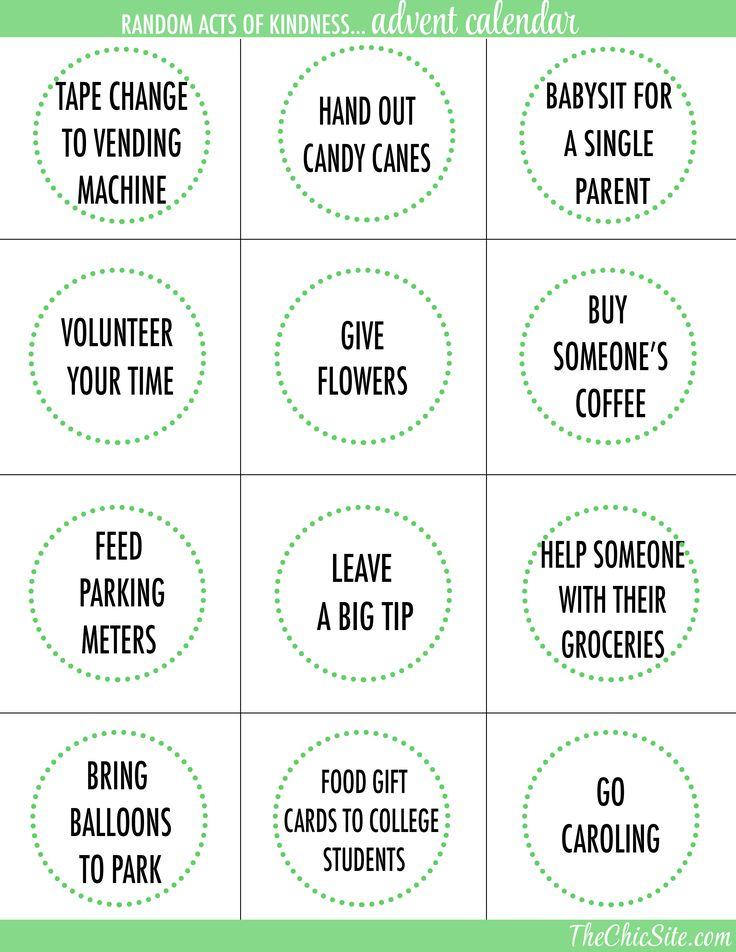 Diy Kindness Calendar : Best pay it forward images on pinterest