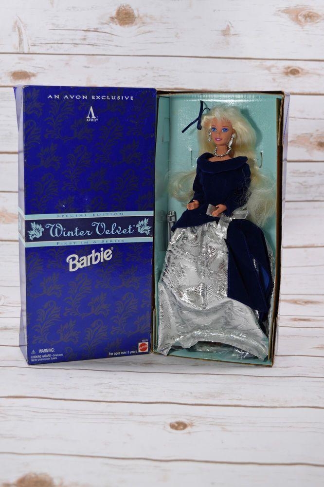 Mattel Avon Exclusive Special Edition Winter Velvet Barbie NIB #Mattel #Dolls