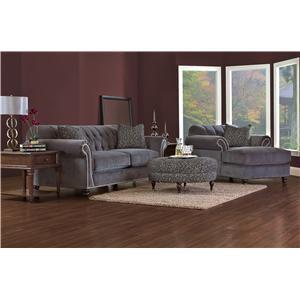 Klaussner Flynn Stationary Living Room Group   Hudsonu0027s Furniture    Upholstery Group