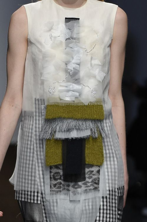 Mixed media surfaces spotted at #Christian Wijnants #PFW #AW15