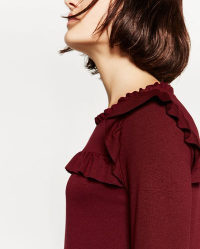 Image 6 of A-LINE DRESS WITH FRILLS from Zara