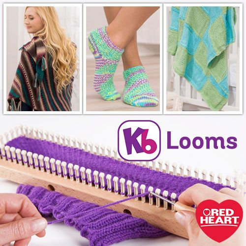 Because you asked for it…Loom Knits -- You may have noticed that we've added patterns on redheart.com for knitting looms. We've partnered with KB Looms to fill a void on our site for those wanting to use our yarns for loom knitting.
