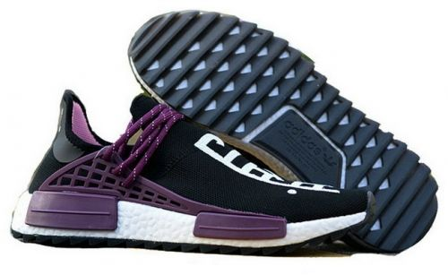 sale retailer 558b7 6c159 Real Pharrell x adidas NMD Hu Trail Equality Black Purple White