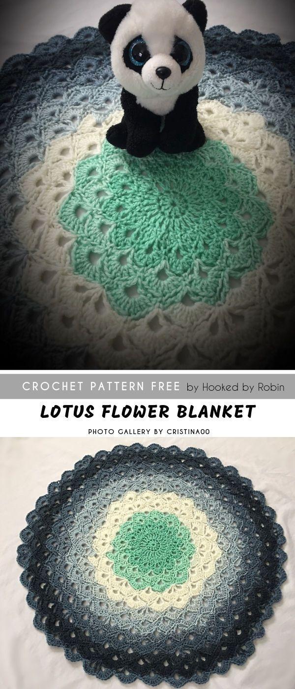 Lotus Flower Crochet Blanket Free Baby Shower Love Crochet