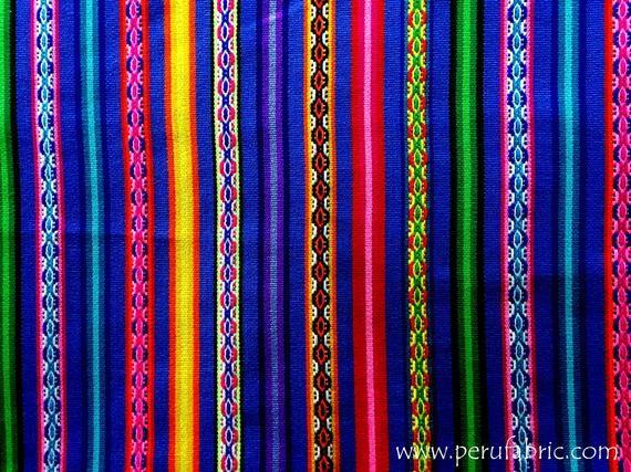 PERU FABRIC White Stripe by Yard Tissus peruvien mexican fabric serape blanket guatemalan fabric Jacquard fabric Fabric Home aguayo