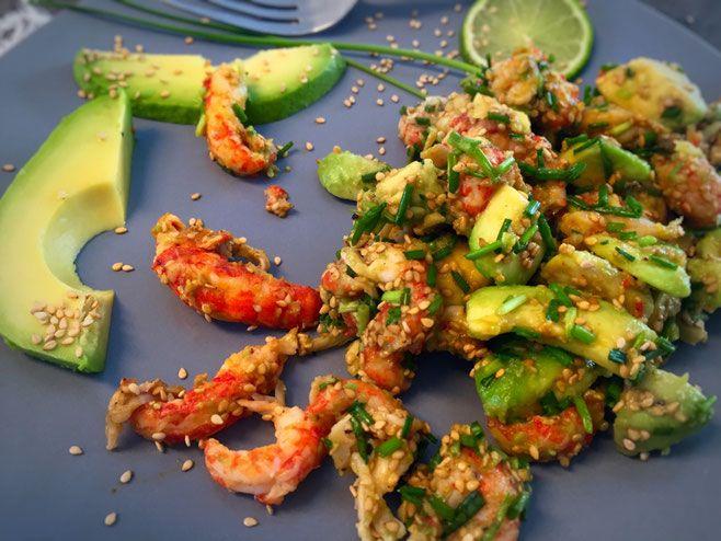schneller Avocado-Flusskrebs Salat