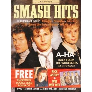 SMASH HITS MAGAZINE BACK ISSUE 26/1/88 A-HA