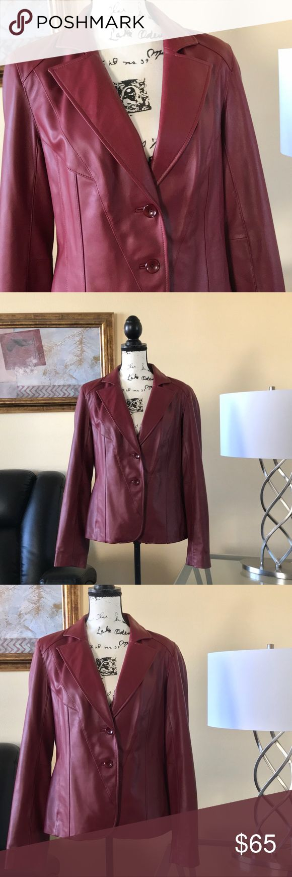 "🧥EUC✨WORTHINGTON Genuine Lambskin Leather Jacket 🧥EUC✨WORTHINGTON Genuine Lambskin Leather Jacket. Size: Medium. Color: Burgandy. Condition: In EXCELLENT used condition, with VERY little signs of wear, yay❣️Approximately 19.75""W x 24""L. WORTHINGTON Jackets & Coats Blazers"