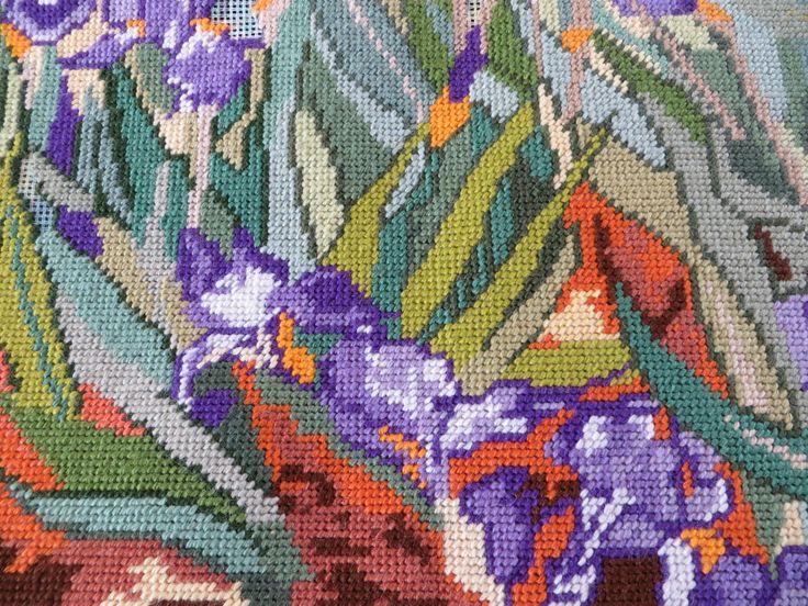 Tapestry of Van Gogh Irises - detail