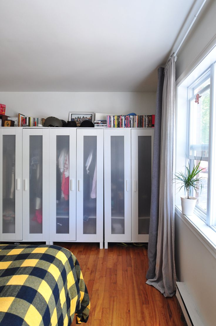 ANEBODA wardrobes next to each other.