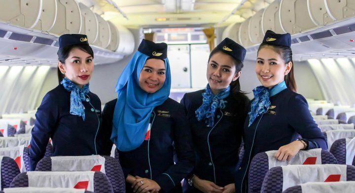 Cantiknya Berhijab Pramugari Nam Air Travel Ticketing Consultant Pramugari Hijab Orang