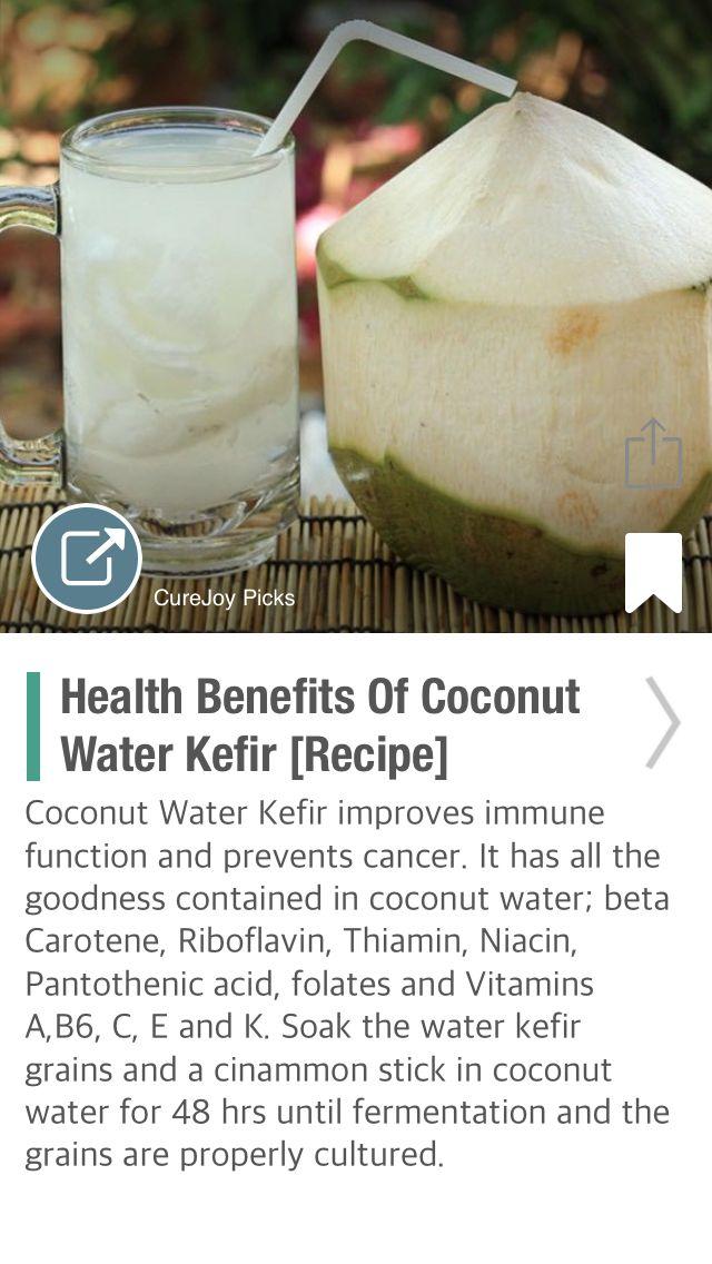 Health Benefits Of Coconut Water Kefir [Recipe] - via @CureJoy