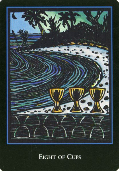 Tarot Decoder Interpret The Symbols Of The Tarot And: Eight Of Cups Upright:Escapism, Disappointment