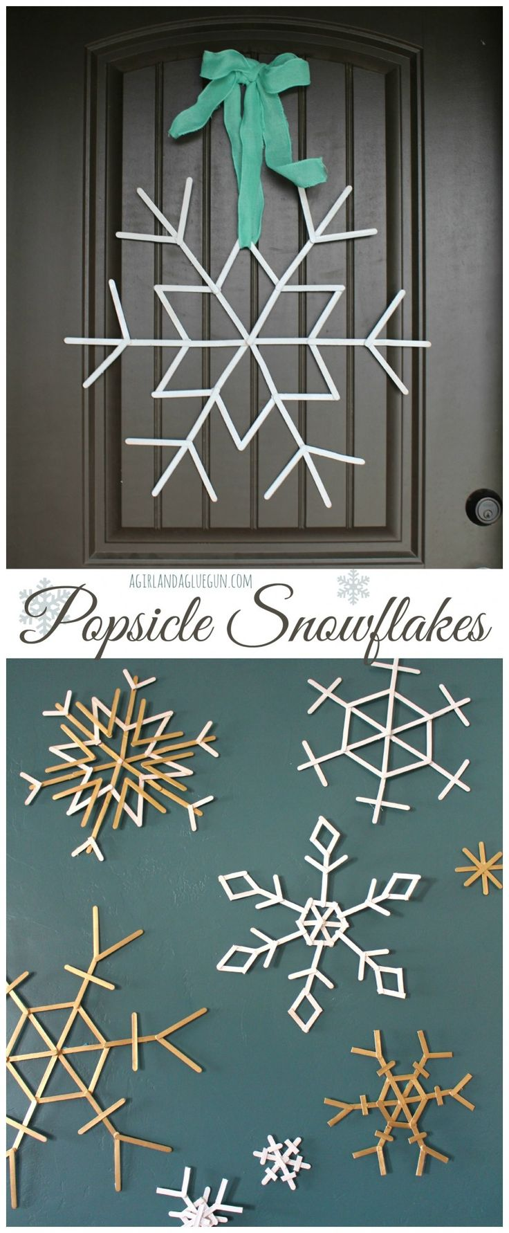 Popsicle Snowflakes - Sugar Bee Crafts