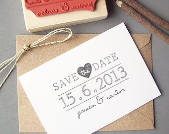 Save the Date Stamp Set DIY Calendar Stamp with by stampcouture