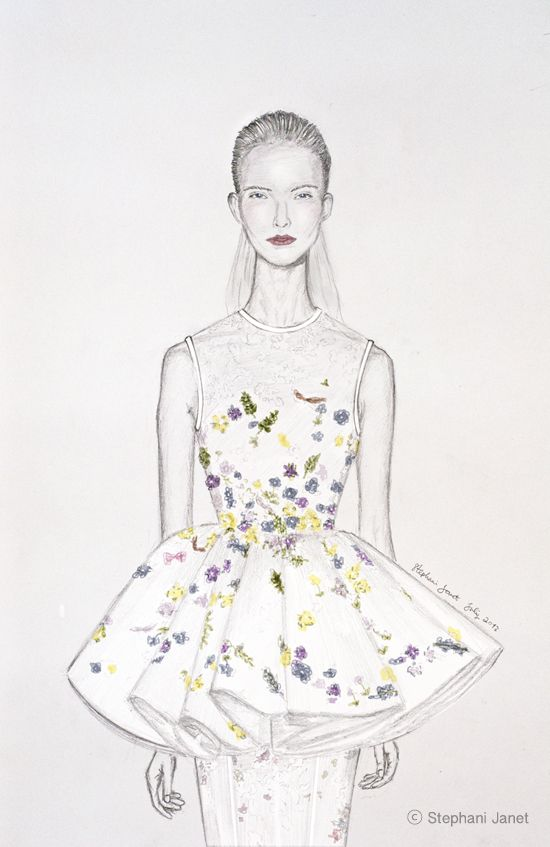 Giambattista Valli Couture 2013 Illustration by me.  for more: www.janet128art.blogspot.com